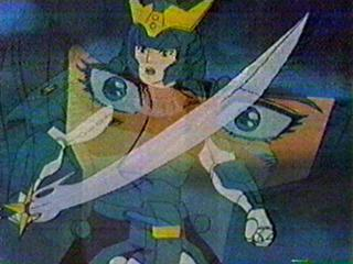A double image of Seiji in his Korin Armor.