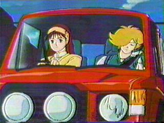 Seiji and Nasutei in the car.